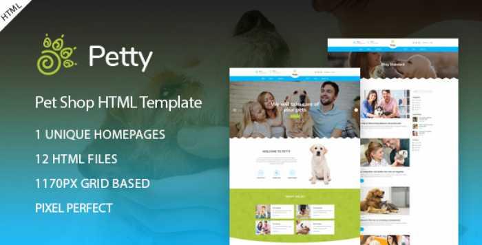 PET SHOP – HTML TEMPLATE