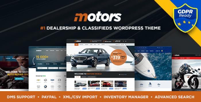 MOTORS V4.1.2 – AUTOMOTIVE, CARS, VEHICLE, BOAT DEALERSHIP