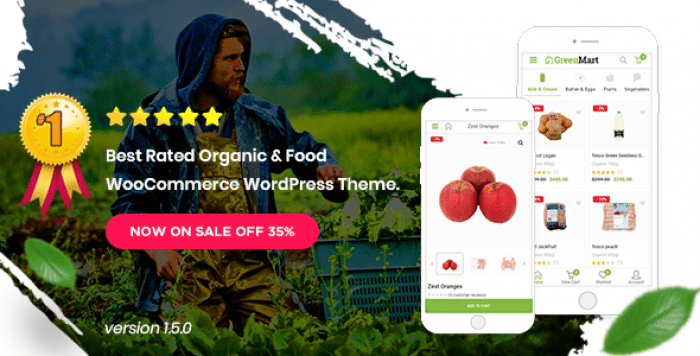 GREENMART V1.5 – ORGANIC & FOOD WOOCOMMERCE WORDPRESS THEME