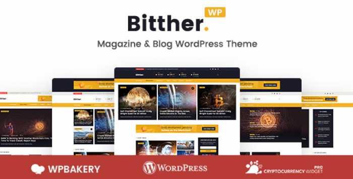 BITTHER V1.0.3 – MAGAZINE AND BLOG WORDPRESS THEME