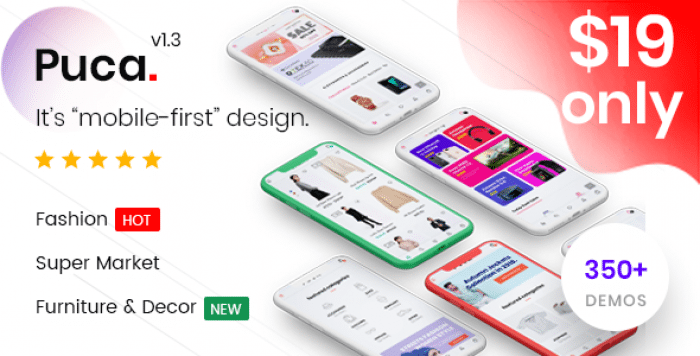 PUCA V1.3.5 – OPTIMIZED MOBILE WOOCOMMERCE THEME