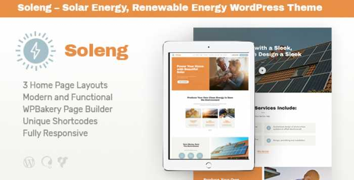 SOLENG V1.0.3 – A SOLAR ENERGY COMPANY WORDPRESS THEME