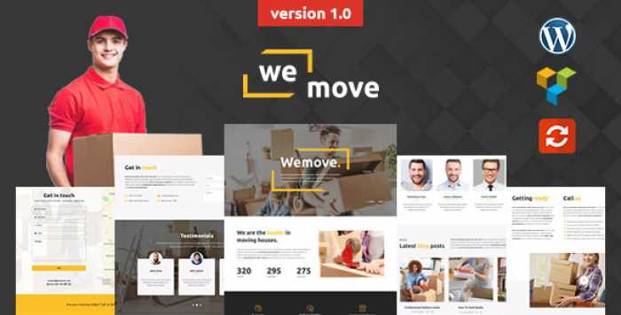 WEMOVE V1.0 – HOME MOVING & LOGISTIC WORDPRESS THEME