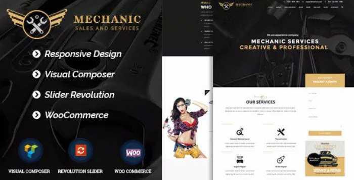 MECHANIC V1.0.1 – CAR SERVICE & WORKSHOP WORDPRESS THEME