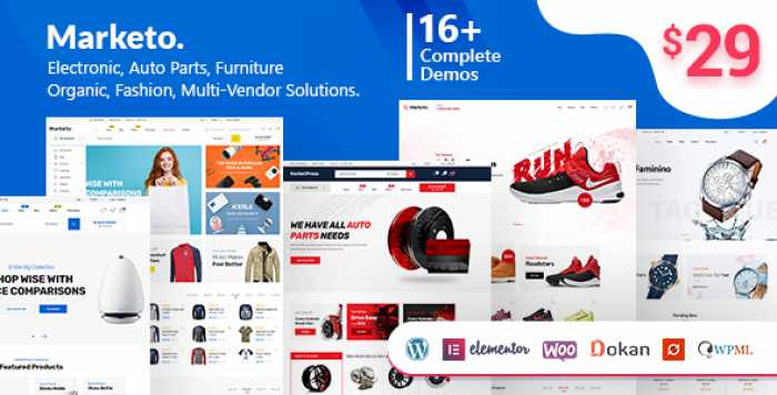 MARKETO V1.3.9 – ECOMMERCE & MULTIVENDOR THEME