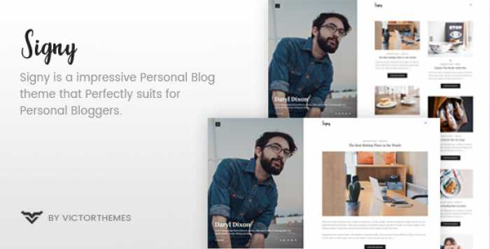 SIGNY V1.4 – A PERSONAL BLOG WORDPRESS THEME