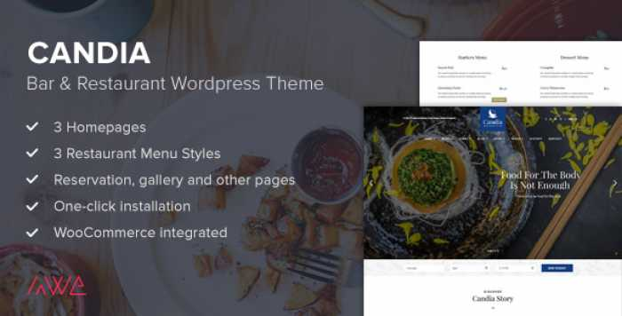 CANDIA V1.1.3 – BAR & RESTAURANT WORDPRESS THEME