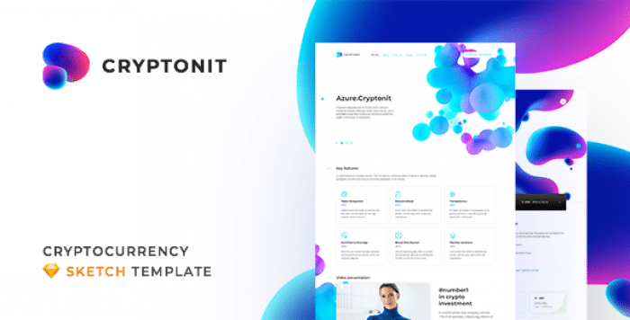 CRYPTONIT V1.0 – DIGITAL CURRENCY, ICO, CRYPTOCURRENCY BLOG AND MAGAZINE, FINANCE SKETCH TEMPLATE