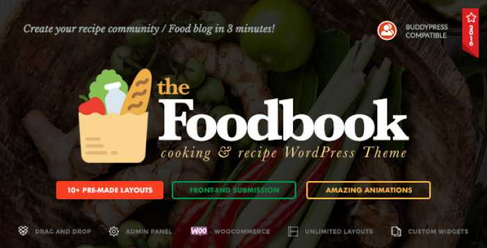 FOODBOOK V1.1.0 – RECIPE COMMUNITY, BLOG & FOOD THEME