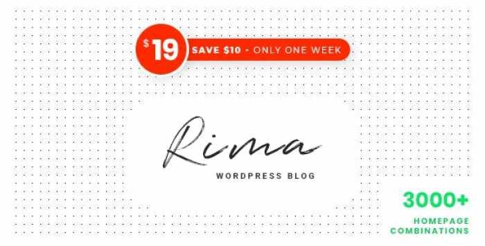 RIMA V1.7.5 – PERSONAL BLOG WORDPRESS THEME
