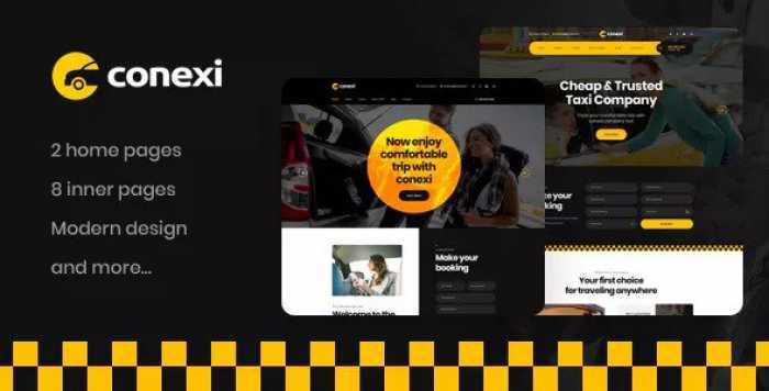 CONEXI – ONLINE TAXI BOOKING SERVICE PSD TEMPLATE