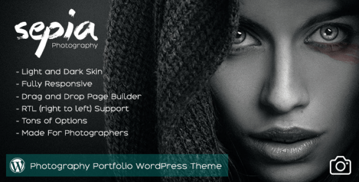 SEPIA V1.9 – PHOTOGRAPHY PORTFOLIO WORDPRESS THEME