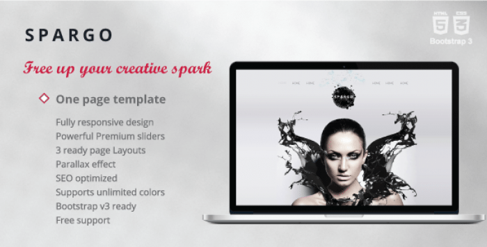 SPARGO – RESPONSIVE SINGLE PAGE TEMPLATE