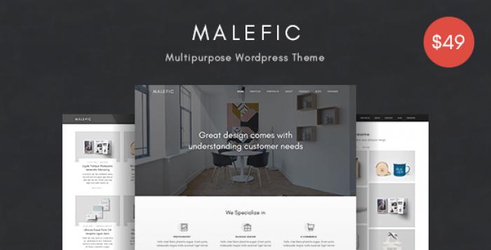 MALEFIC V1.0.1 – ONE PAGE RESPONSIVE WORDPRESS THEME