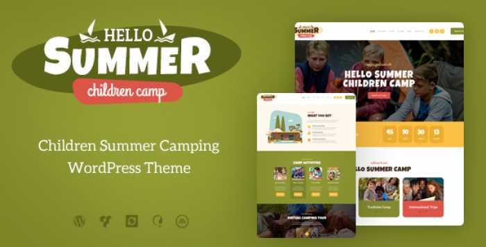 HELLO SUMMER V1.0.1 – A CHILDREN'S CAMP WORDPRESS THEME