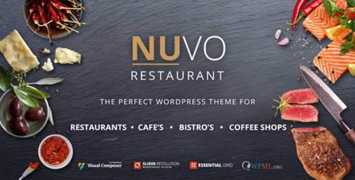 NUVO V6.0.8 – RESTAURANT, CAFE & BISTRO WORDPRESS THEME