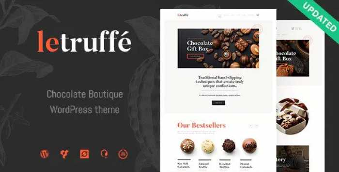 LE TRUFFE V1.0 – CHOCOLATE BOUTIQUE WORDPRESS THEME