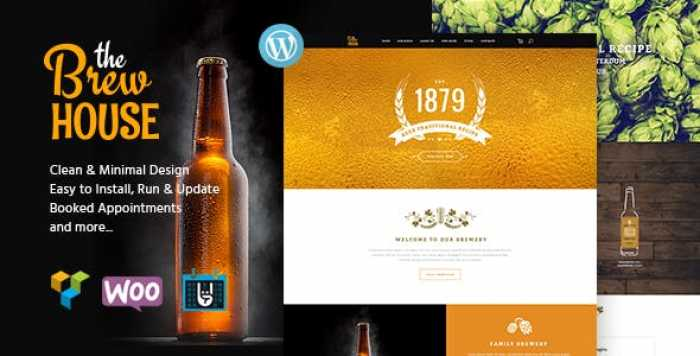 THE BREW HOUSE V1.5 – BREWERY / PUB / RESTAURANT WORDPRESS THEME