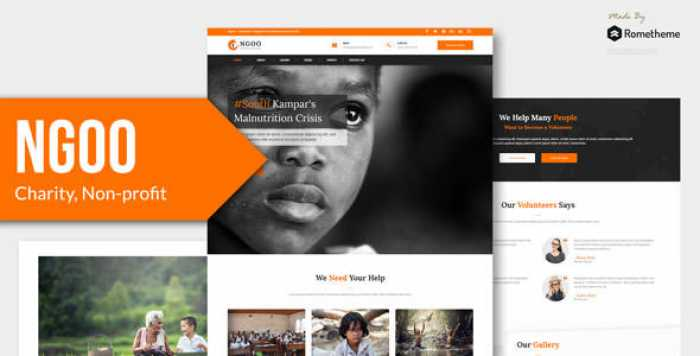 NGOO – CHARITY, NON-PROFIT, AND FUNDRAISING PSD TEMPLATE