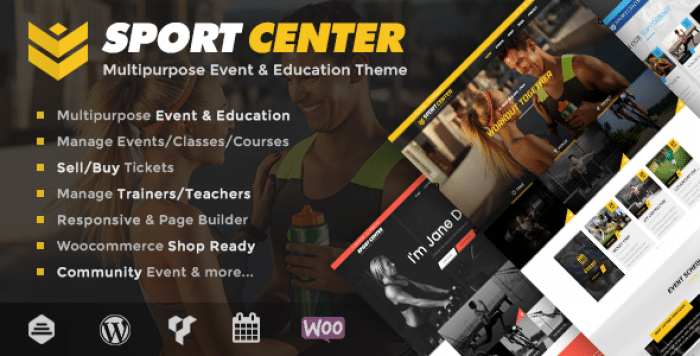 SPORT CENTER V2.3.1 – MULTIPURPOSE EVENTS & EDUCATION THEME