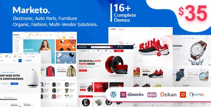 MARKETO V1.5.1 – ECOMMERCE & MULTIVENDOR THEME