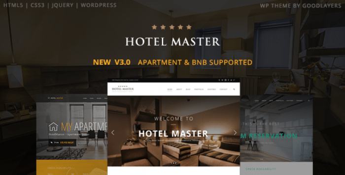 HOTEL MASTER V3.03 – HOTEL BOOKING WORDPRESS THEME