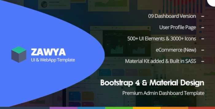 ZAWYA – BOOTSTRAP 4 & MATERIAL DESIGN PREMIUM ADMIN DASHBOARD TEMPLATE