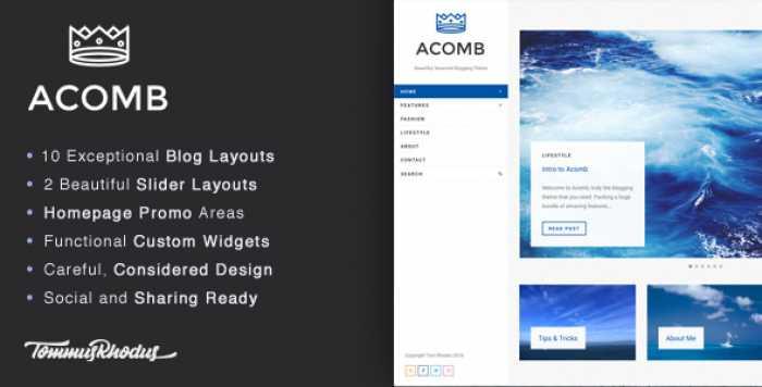 ACOMB V1.0.5 – RESPONSIVE BLOGGING WORDPRESS THEME