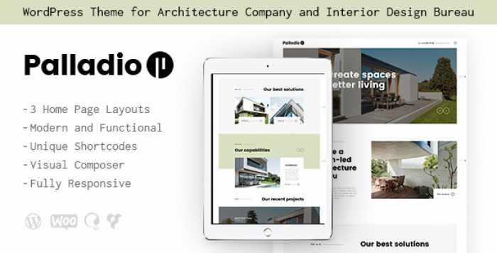 PALLADIO V1.1 – INTERIOR DESIGN & ARCHITECTURE THEME