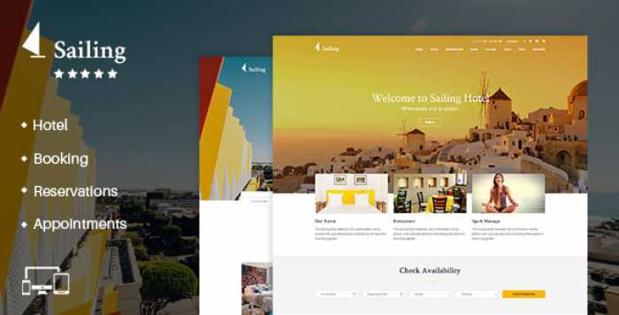 SAILING V2.0 – HOTEL WORDPRESS THEME