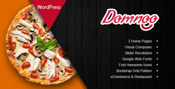 DOMNOO V1.7 – PIZZA & RESTAURANT WORDPRESS THEME