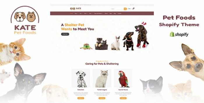 KATE V1.1 – DOG & PETS FOOD STORE SHOPIFY THEME