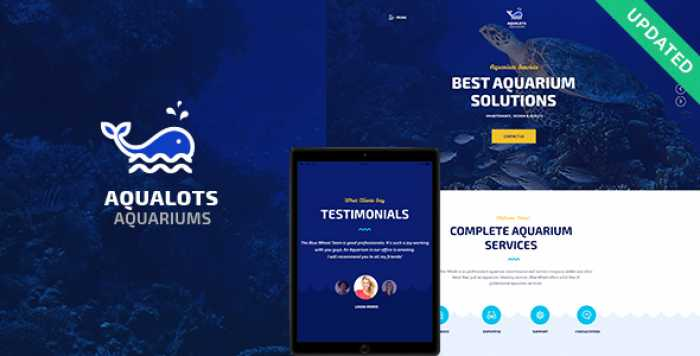 AQUALOTS V1.0 – AQUARIUM SERVICES WORDPRESS THEME