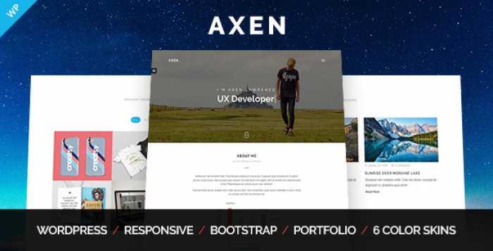 AXEN V1.0.3 – PERSONAL PORTFOLIO WORDPRESS THEME