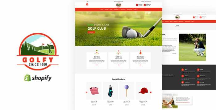 GOLFY – GOLF, SPORTS SHOPIFY THEME
