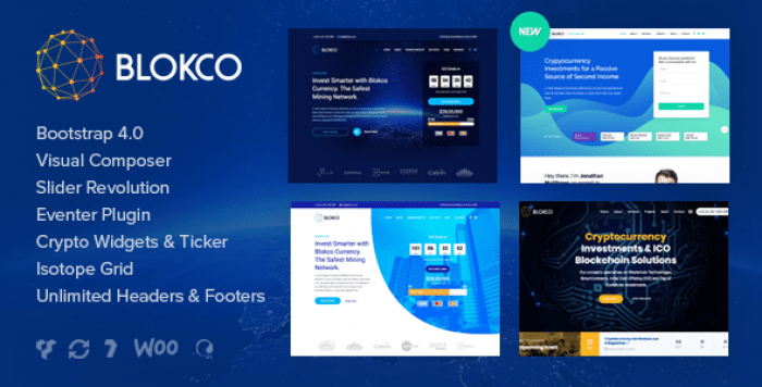 BLOKCO V1.4.1 – ICO, CRYPTOCURRENCY & CONSULTING BUSINESS THEME