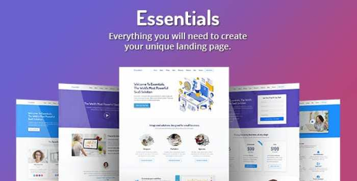 ESSENTIALS – HIGH CONVERTING SAAS LANDING PAGE TEMPLATE