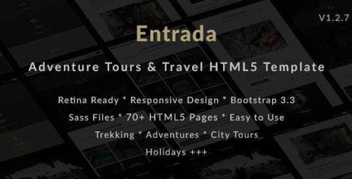 ENTRADA V1.2.7 – TOUR & TRAVEL HTML TEMPLATE FOR TOUR AGENCY