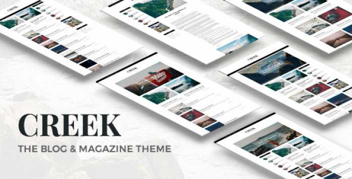 CREEK V1.0 – CLASSIC ELEGANT MAGAZINE WORDPRESS THEME