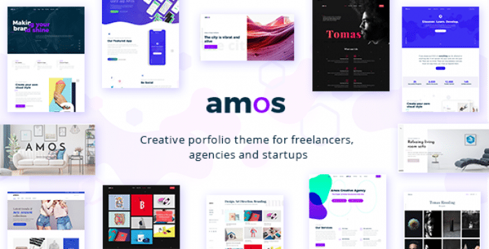 AMOS V1.1 – CREATIVE WORDPRESS THEME FOR AGENCIES