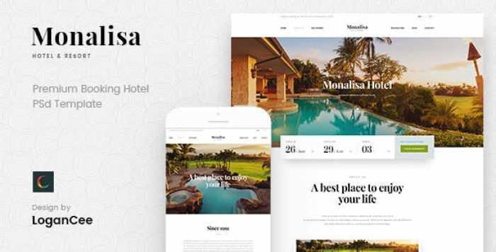 MONALISA – PREMIUM BOOKING HOTEL PSD TEMPLATE