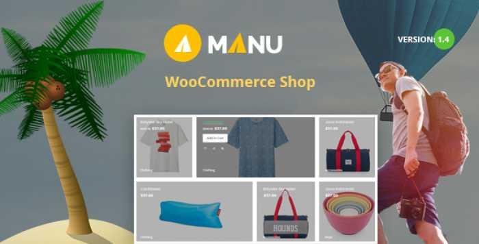 MANU V1.4 – TRAVEL STORE WOOCOMMERCE THEME