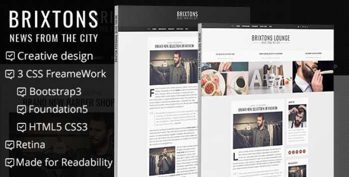 BRIXTON – MINIMAL & PERSONAL HTML BLOG TEMPLATE