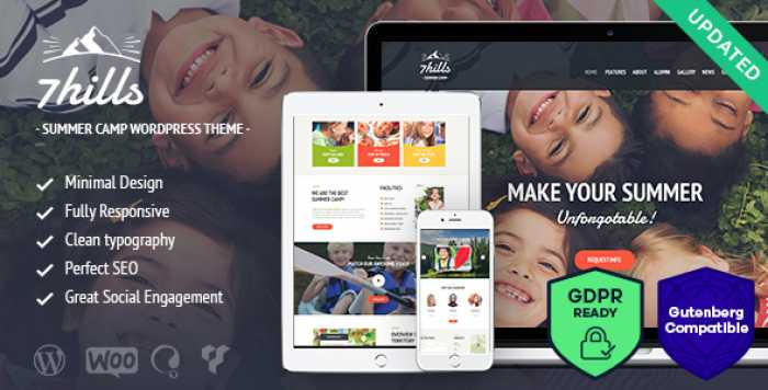 SEVENHILLS V1.6 – SUMMER CAMP WORDPRESS THEME