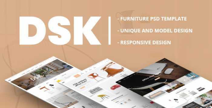 DSK – FURNITURE PSD TEMPLATE