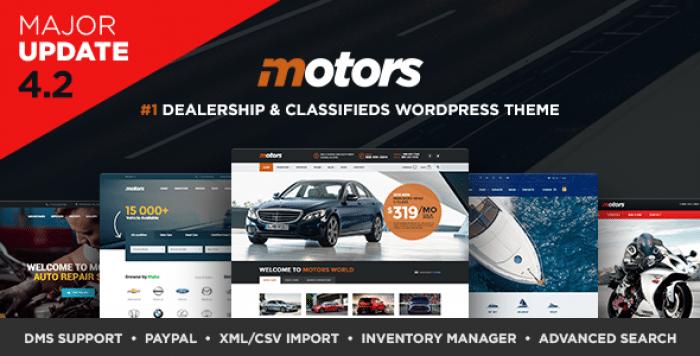 MOTORS V4.2.7 – AUTOMOTIVE, CARS, VEHICLE, BOAT DEALERSHIP