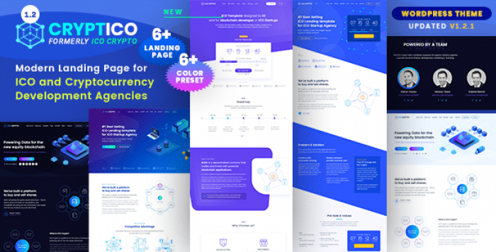 CRYPTICO V1.2.1 – ICO CRYPTO LANDING & CRYPTOCURRENCY THEME