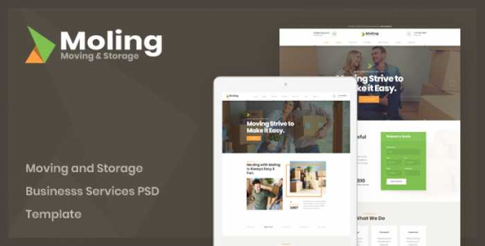 MOLING – MOVING AND STORAGE BUSINESS SERVICES PSD TEMPLATE