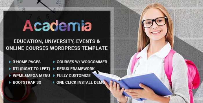 ACADEMIA V2.1 – EDUCATION CENTER WORDPRESS THEME