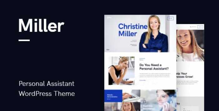 MILLER V1.0.3 – PERSONAL ASSISTANT & ADMINISTRATIVE SERVICES WORDPRESS THEME